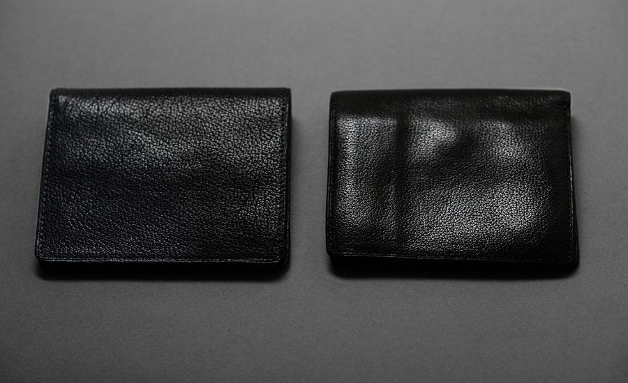 arrow_二つ折り財布01_ブラックエイジング比較