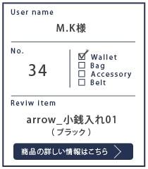 Alt81ご愛用者様レビュー M.K様のarrow_小銭入れ01_ブラック 約1年使用