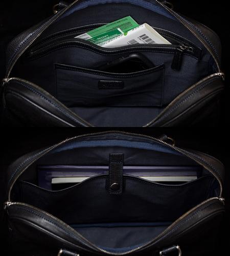 Alt81ブリーフケース3型比較/mark_ブリーフケース01の背面ポケット