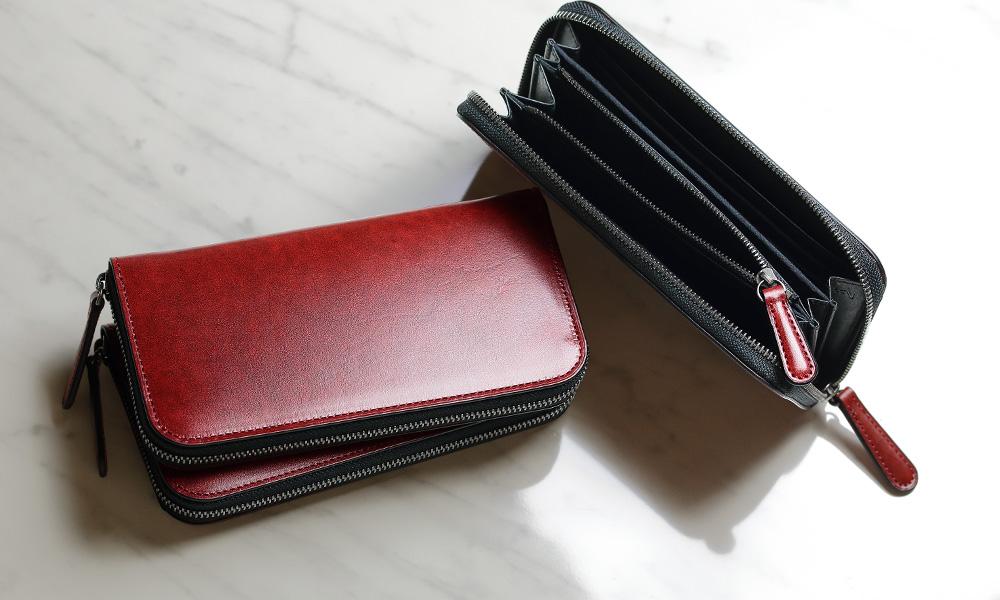 ラウンドファスナー長財布レッドのイメージ03