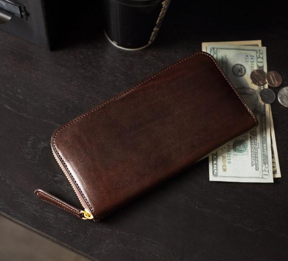 Alt81ラウンドファスナー長財布ダークブラウンのイメージ02