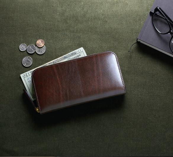 Alt81ラウンドファスナー長財布ダークブラウンのイメージ03